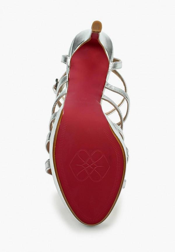 Фото 3 - женские босоножки Cuple серебрянного цвета