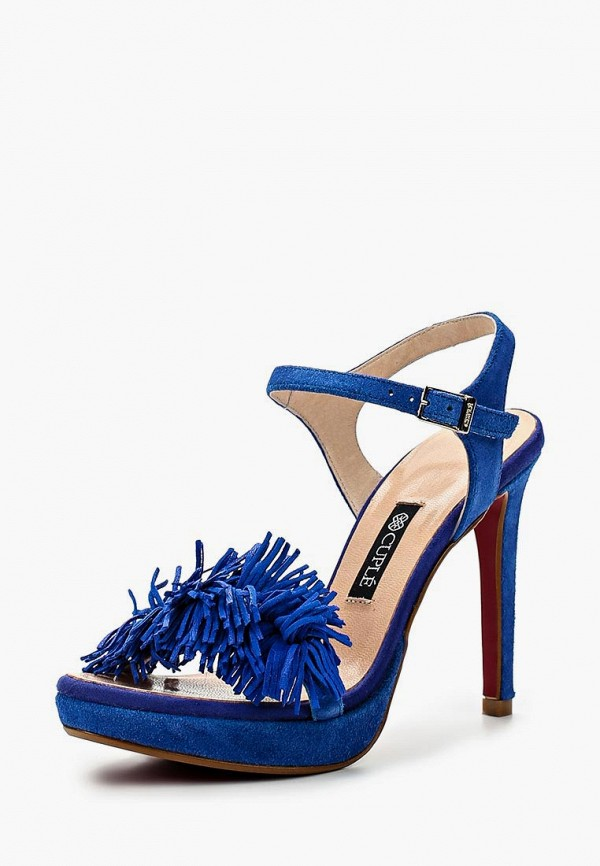 женские босоножки cuple, синие