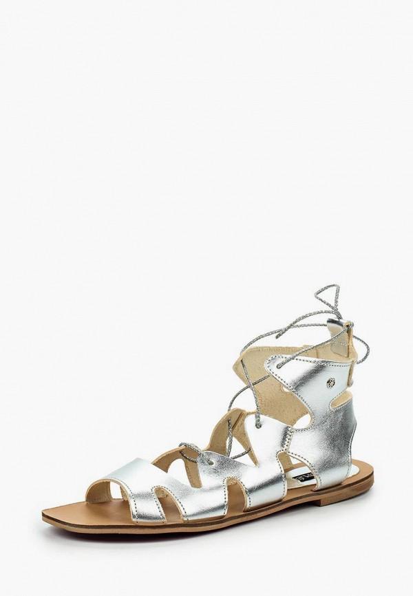женские сандалии cuple, серебряные