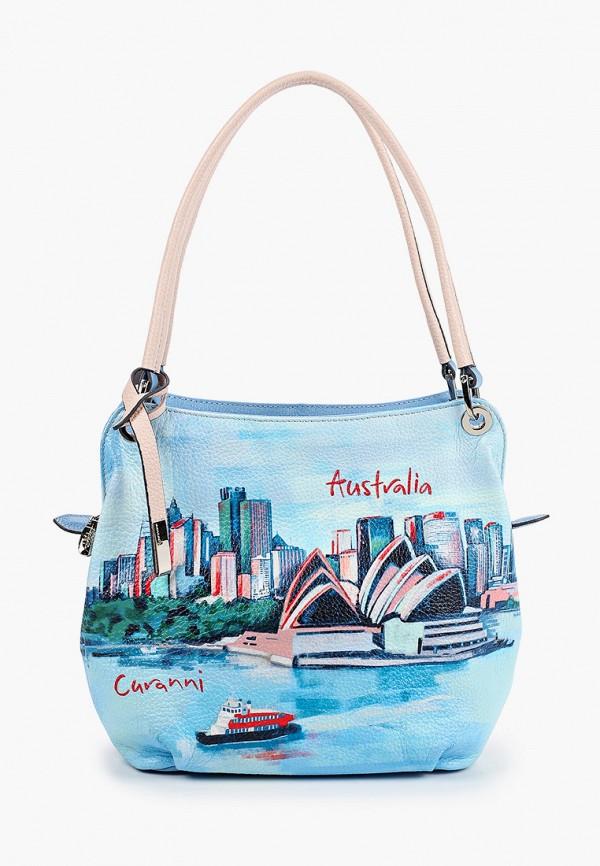 женская сумка curanni, голубая