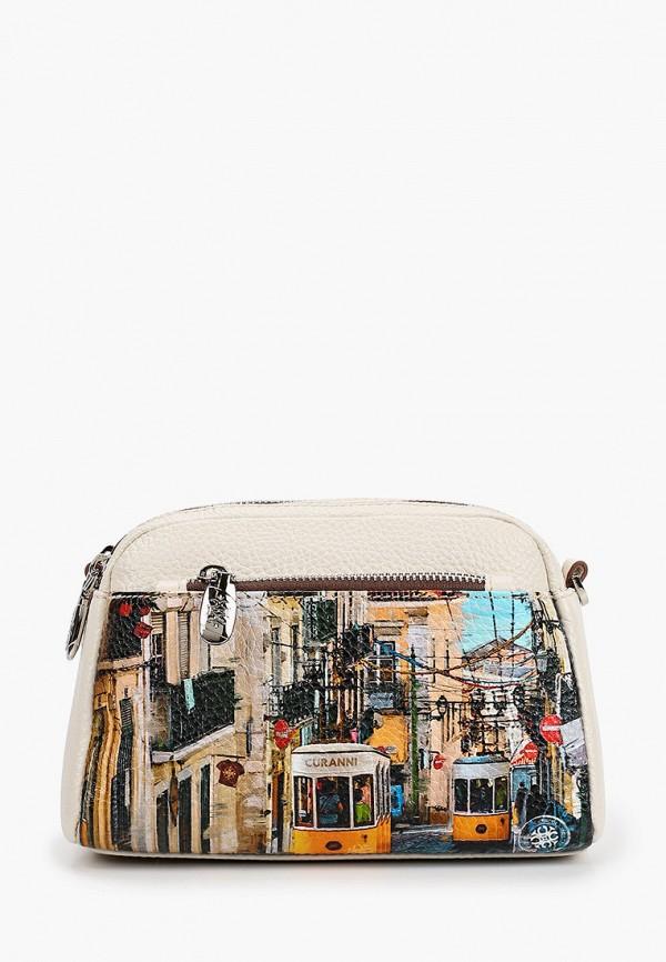 женская сумка curanni, бежевая