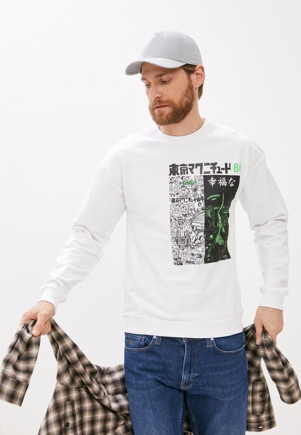 мужской свитшот custo barcelona, белый