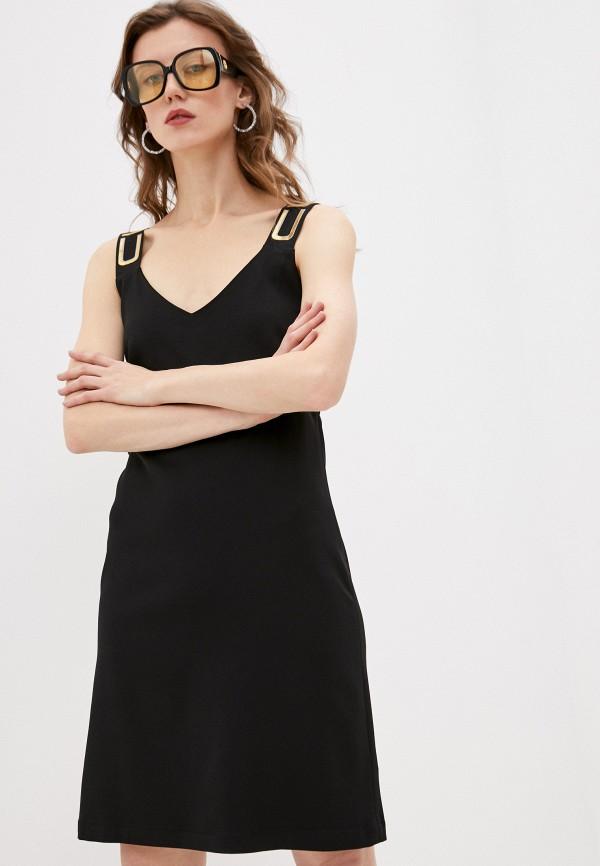 женское повседневные платье custo barcelona, черное