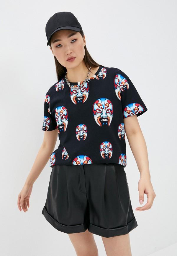 женская футболка custo barcelona, черная