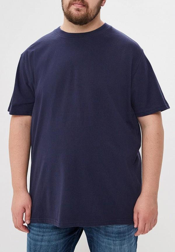 мужская футболка d555, синяя