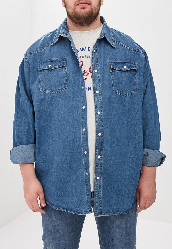 мужская джинсовые рубашка d555, синяя