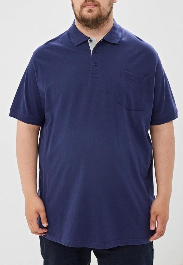 мужское поло d555, синее