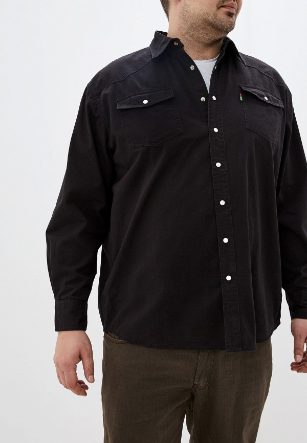 мужская рубашка d555, черная