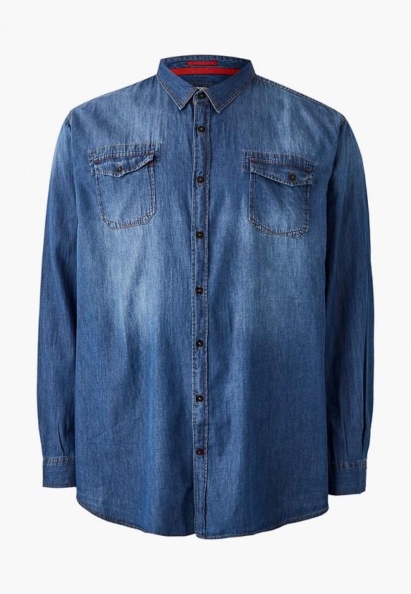 мужская рубашка d555, синяя