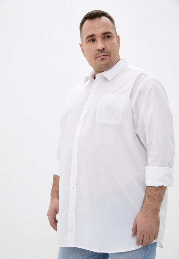 мужская рубашка d555, белая