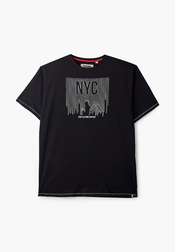 мужская футболка d555, черная