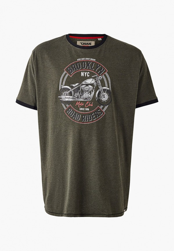 мужская футболка d555, хаки