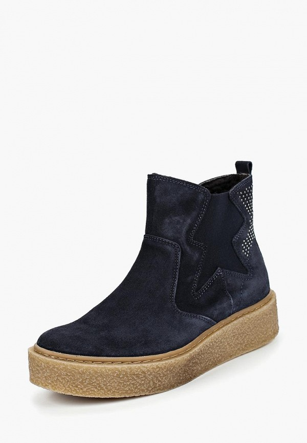 женские высокие ботинки dali, синие