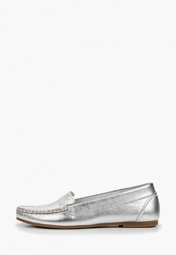 женские мокасины dali, серебряные