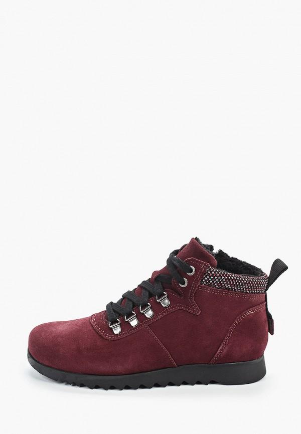 женские низкие ботинки dali, бордовые