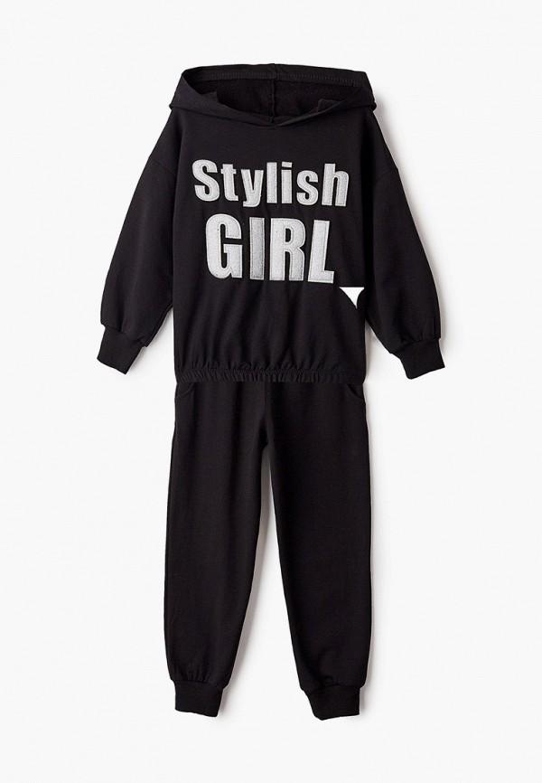 спортивный костюм dali для девочки, черный