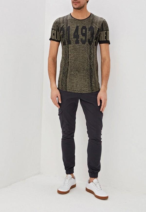 Фото 2 - мужскую футболку Dali цвета хаки