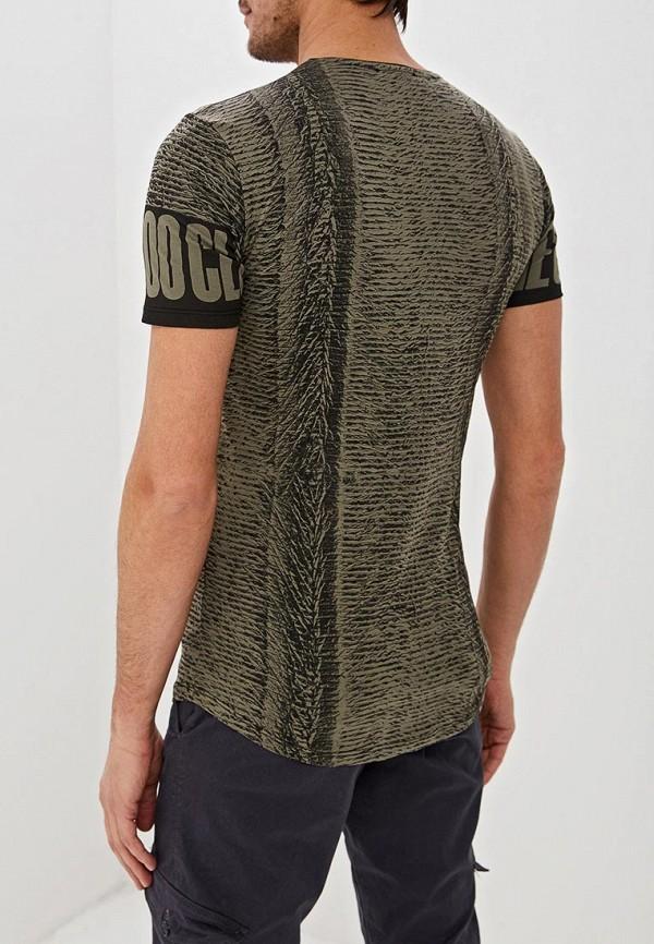 Фото 3 - мужскую футболку Dali цвета хаки