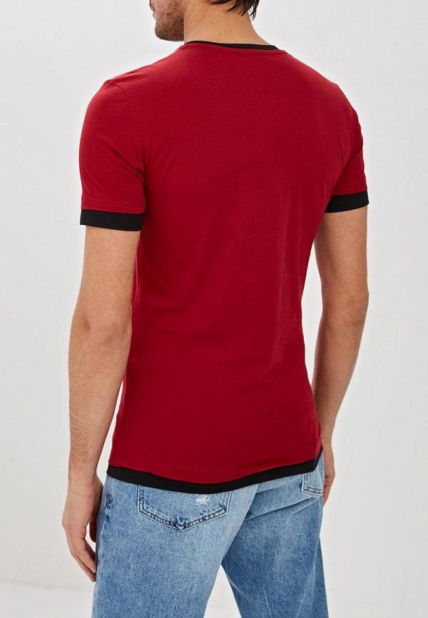 Фото 3 - мужскую футболку Dali бордового цвета