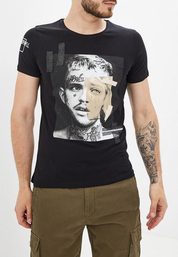Купить мужскую футболку Dali черного цвета