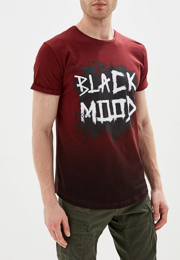 мужская спортивные футболка dali, бордовая