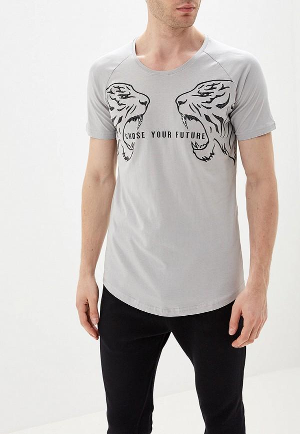 мужская спортивные футболка dali, серая