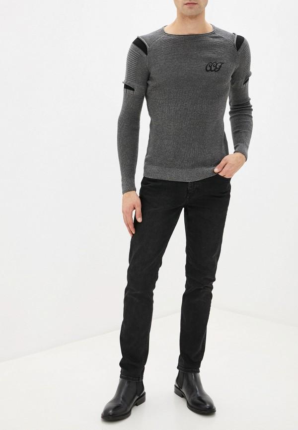 Фото 2 - мужское джемпер Dali серого цвета