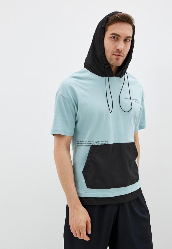 мужская футболка с коротким рукавом dali, голубая