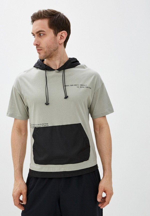 мужская футболка с коротким рукавом dali, хаки