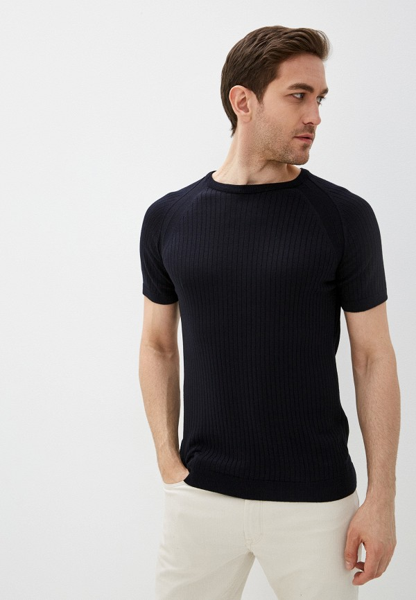мужская футболка с коротким рукавом dali, черная