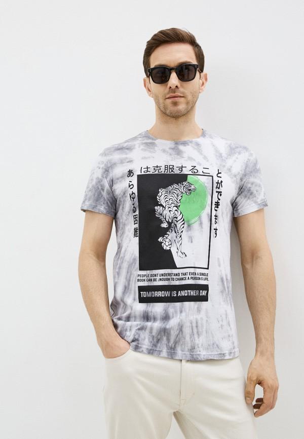 мужская футболка с коротким рукавом dali, серая