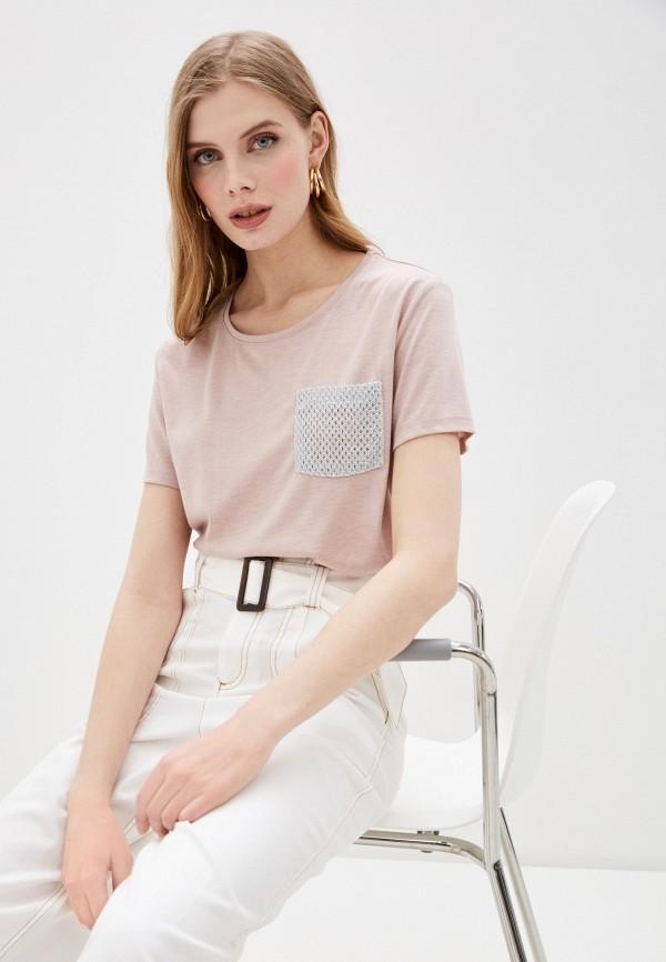 мужская спортивные футболка dali, розовая