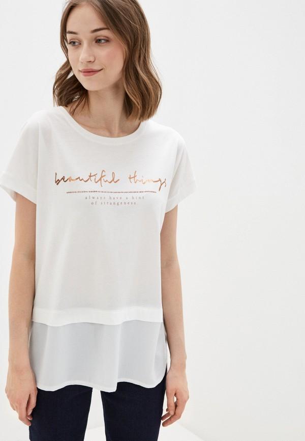 женская футболка с коротким рукавом dali, белая