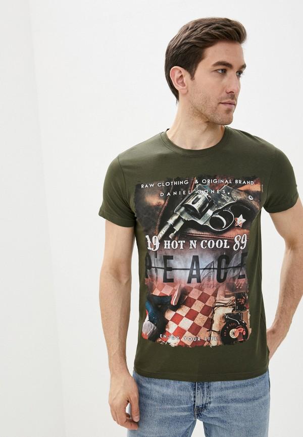 мужская спортивные футболка dali, хаки