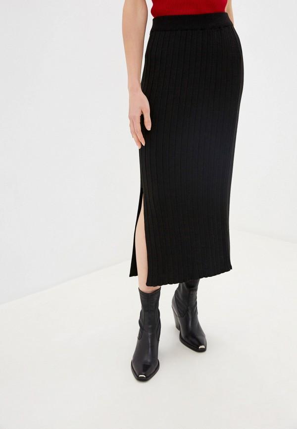женская юбка-трапеции dali, черная