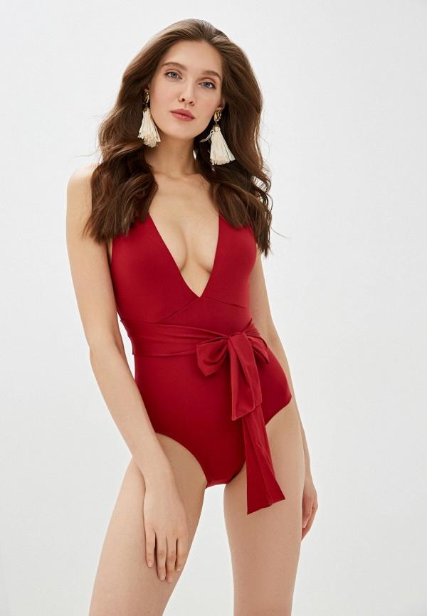 женский купальник dali, бордовый