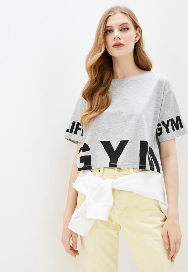женская спортивные футболка dali, серая