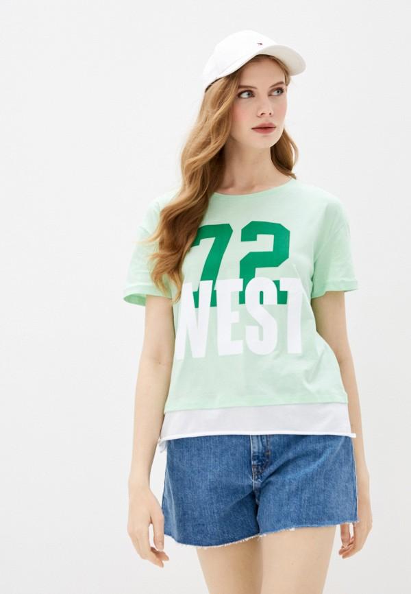 женская спортивные футболка dali, зеленая