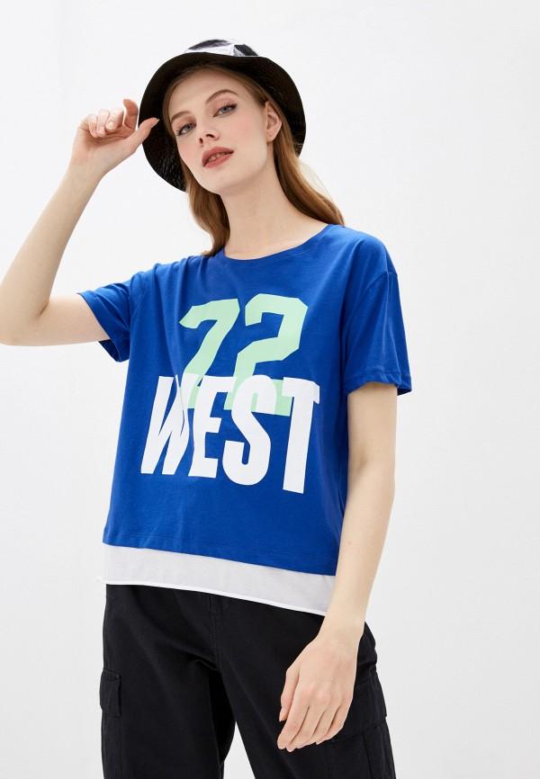 женская спортивные футболка dali, синяя