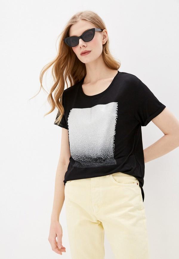 женская спортивные футболка dali, черная