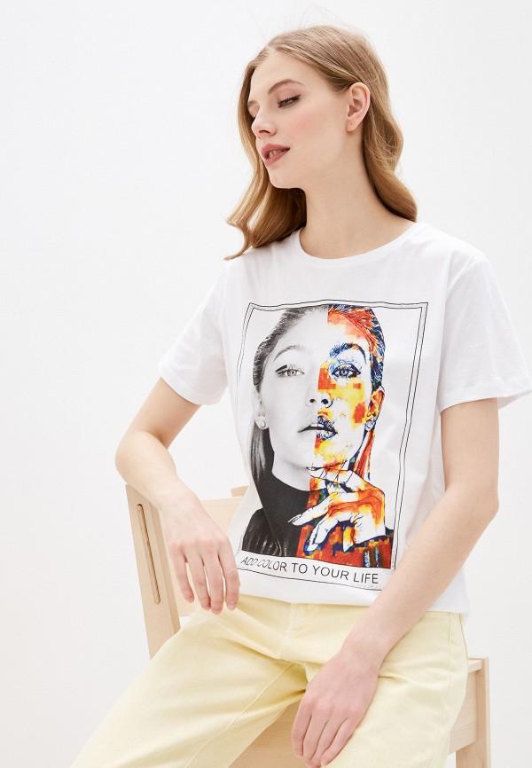 женская спортивные футболка dali, белая