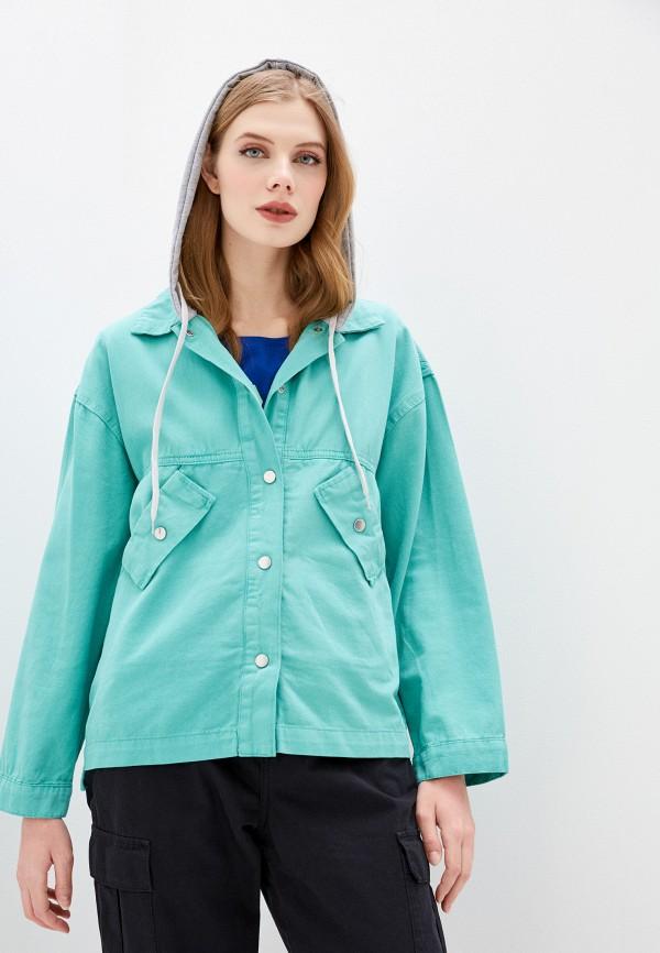 женская джинсовые куртка dali, бирюзовая