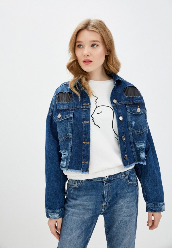 женская куртка dali, синяя