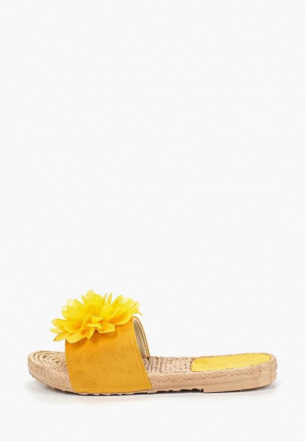 женское сабо damerose, желтое
