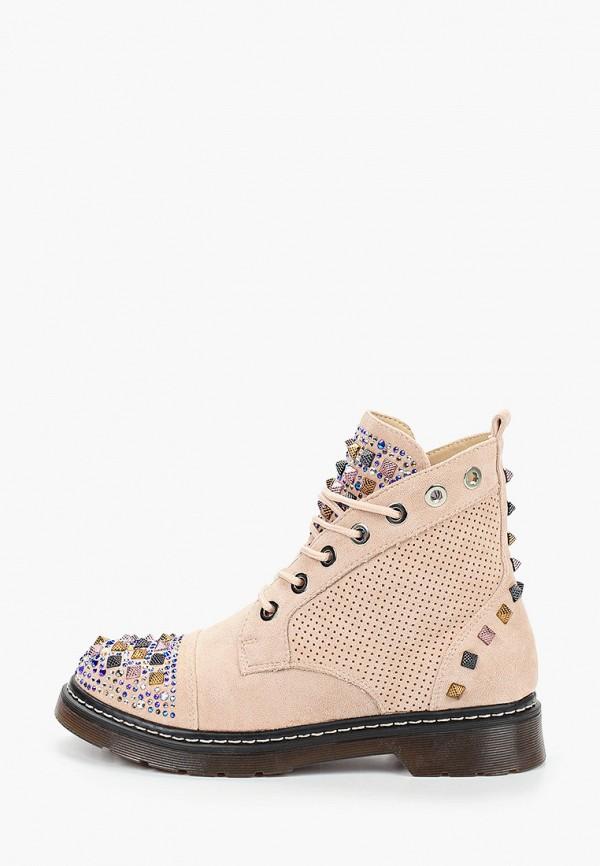 женские ботинки damerose, розовые