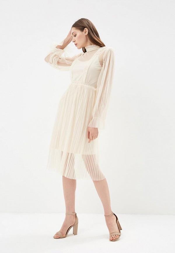 Купить Платье Danity, DA023EWBLTF1, бежевый, Весна-лето 2018
