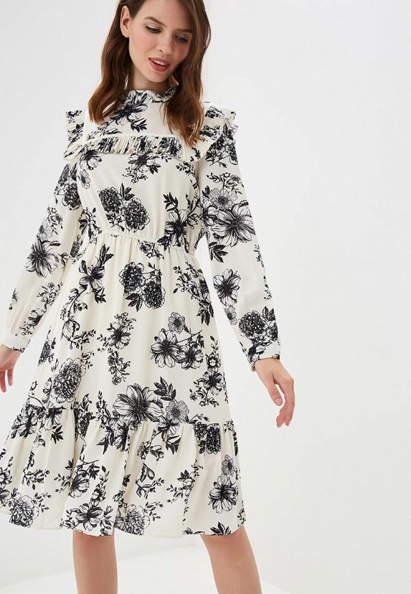 Купить Платье Danity, da023ewcfyp1, бежевый, Осень-зима 2018/2019
