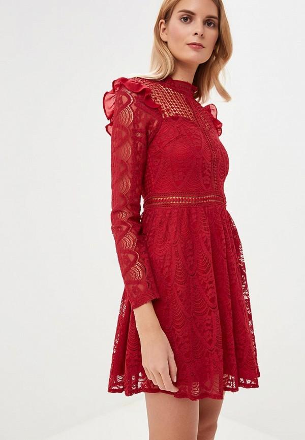 женское вечерние платье danity, бордовое