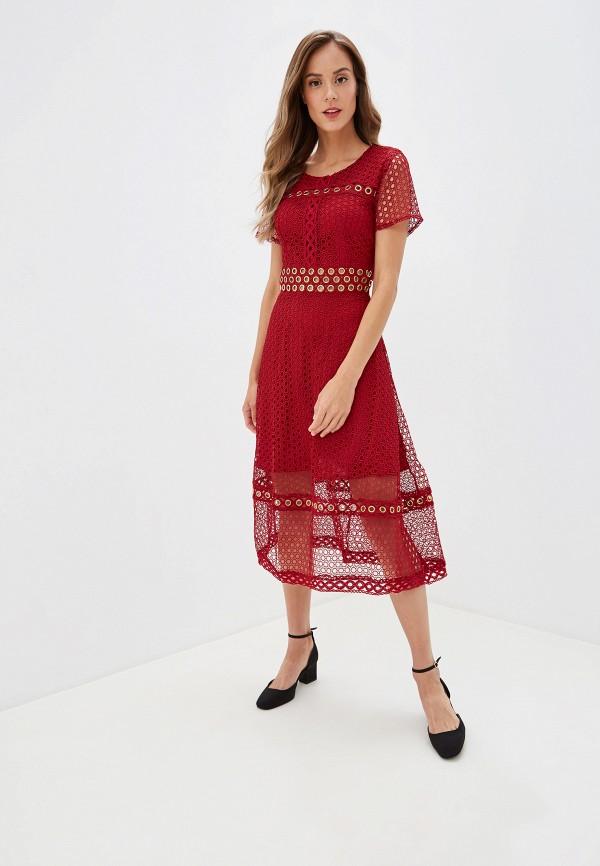 Купить Платье Danity бордового цвета