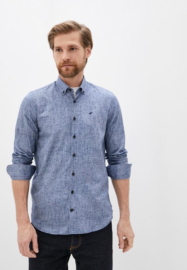 мужская рубашка с длинным рукавом daniel hechter, синяя